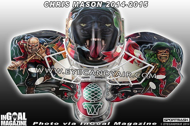 Chris Mason's Eddie Inspired Hockey Mask