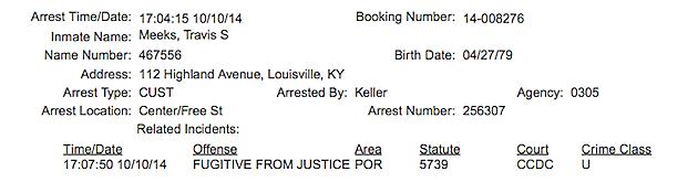 Travis Meeks Arrest