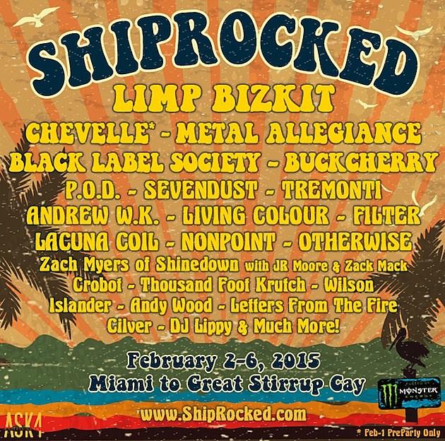 ShipRocked Cruise 2015 Lineup