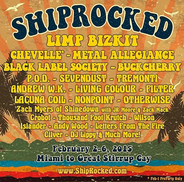 ShipRocked 2015 Lineup