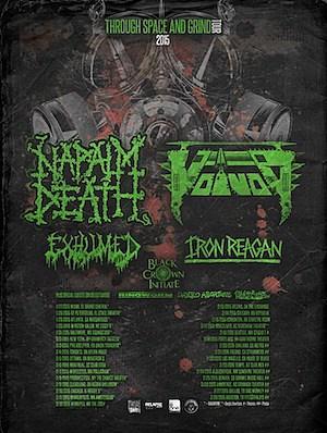 Napalm Death 2015 Tour
