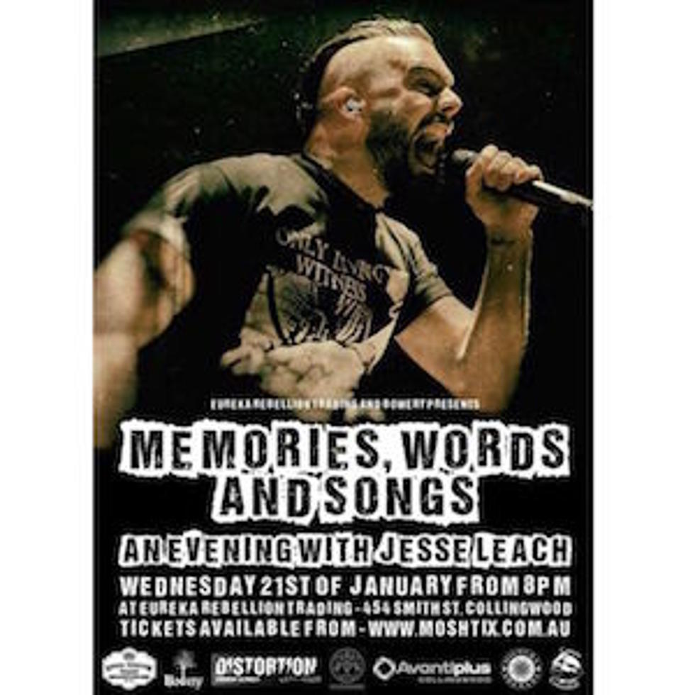 Killswitch Engages Jesse Leach Books First Spoken Word Show