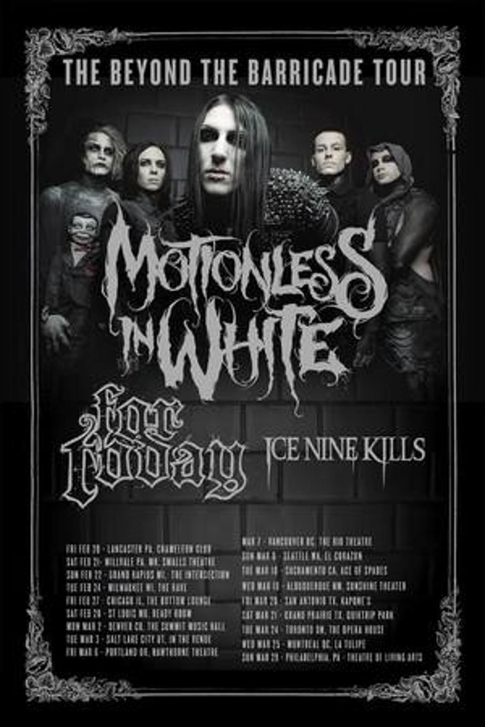 Motionless in white to headline 2015 tour motionless in white to headline 2015 beyond the barricade tour kristyandbryce Choice Image