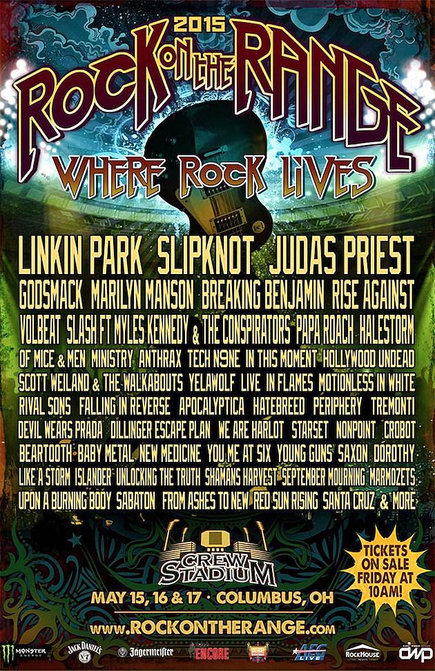 Rock On The Range Tickets : linkin park judas priest slipknot to headline 2015 rock on the range ~ Vivirlamusica.com Haus und Dekorationen