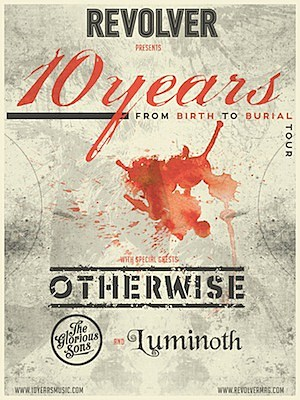 10 Years From Birth to Ritual Tour Poster