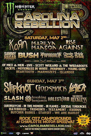 2015 Carolina Rebellion Lineup