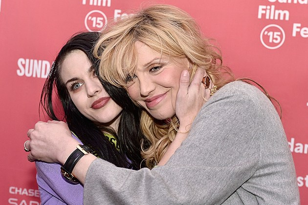 Frances Bean Cobain + Courtney Love