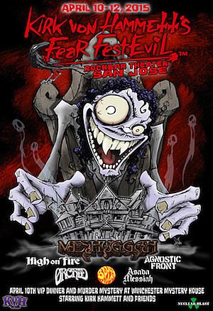 Kirk Von Hammett's Fear FestEvil Poster