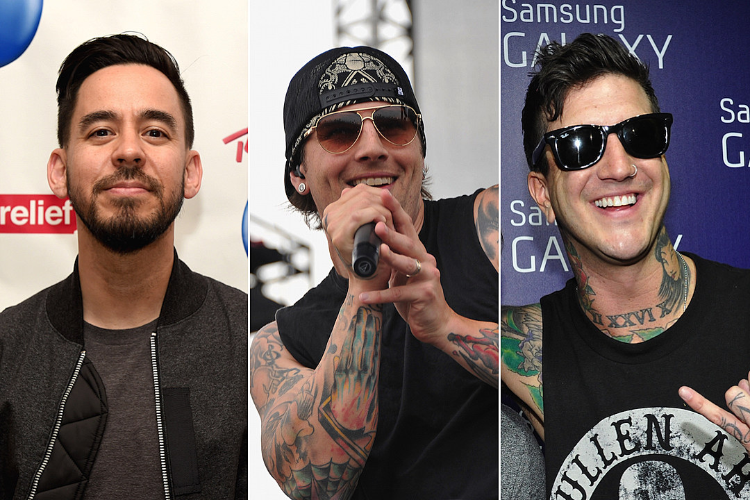 Linkin Park A7X And Of Mice Men Members Jam Together