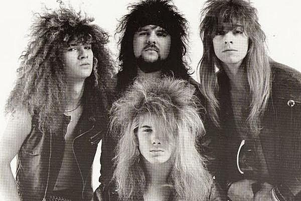 Hair band 80s glam