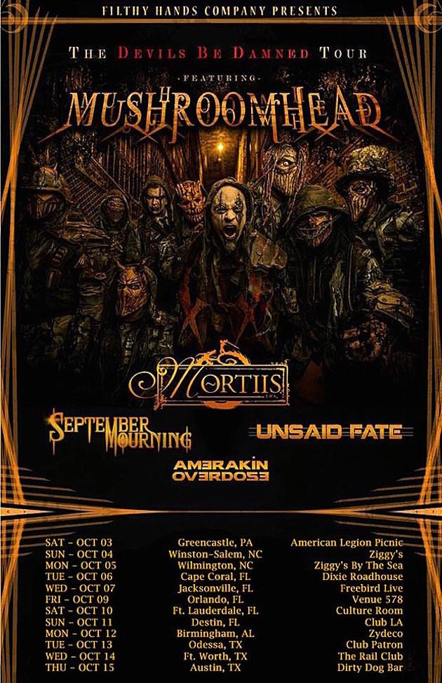 September Mourning Mushroomhead Tour