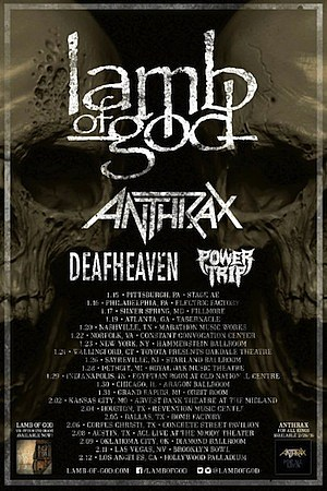 Lamb of god tour dates in Melbourne