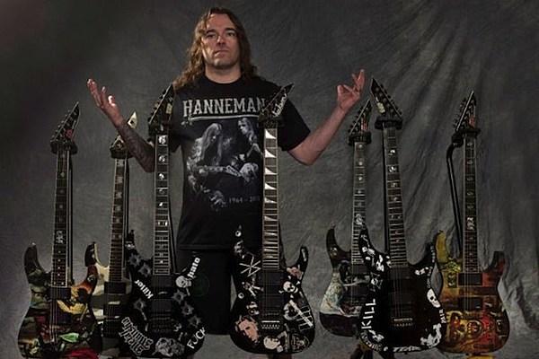 jeff hanneman guitars bought by broken hope 39 s jeremy wagner. Black Bedroom Furniture Sets. Home Design Ideas