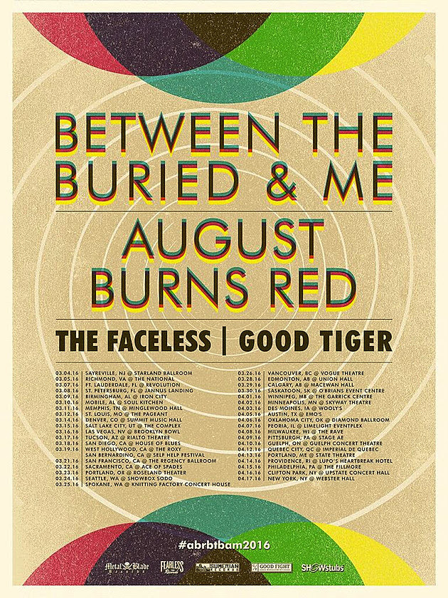 Between the Buried and Me August Burns Red Tour Poster