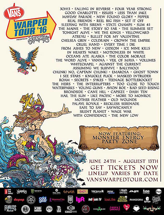 2016 Vans Warped Tour Announces Full Lineup