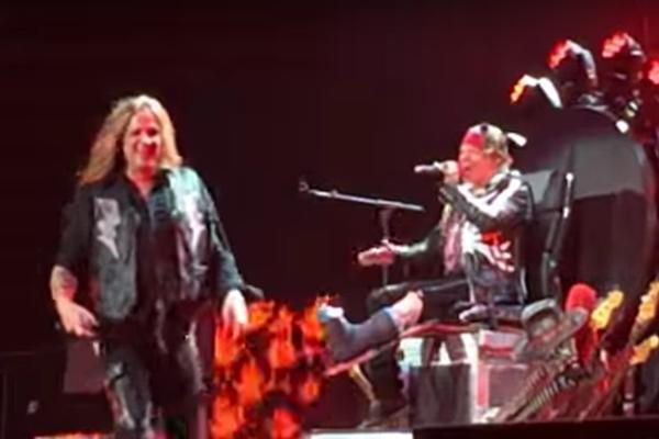 Guns N' Roses Jam 'My Michelle' With Sebastian Bach in Vegas