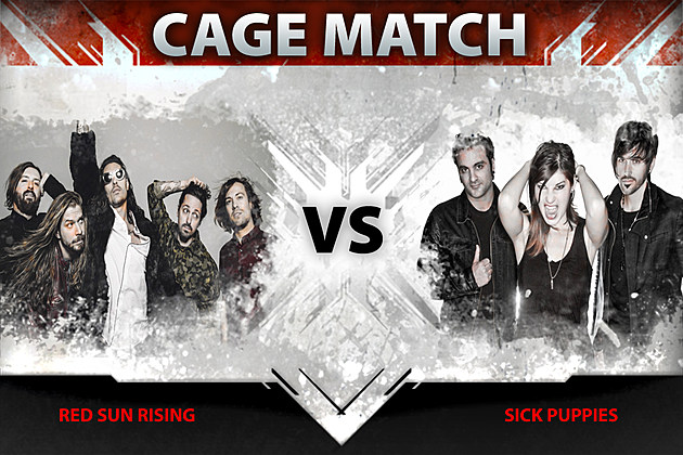 red sun rising vs sick puppies cage match. Black Bedroom Furniture Sets. Home Design Ideas