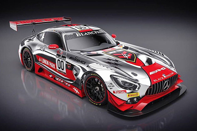 Linkin Park Design Livery For Mercedes Amg Racing Car