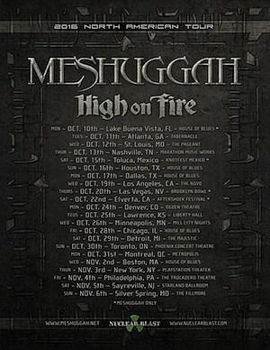 Meshuggah Tour