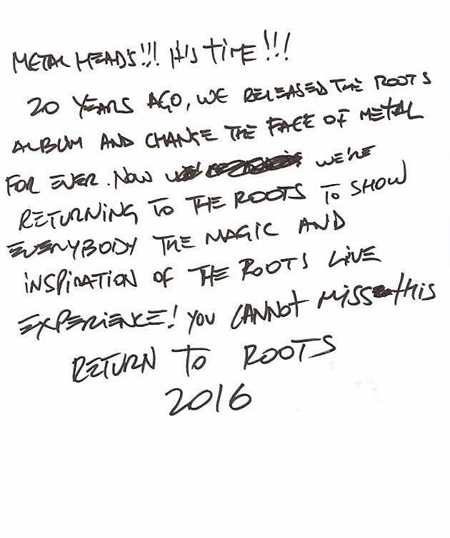 Max Cavalera letter