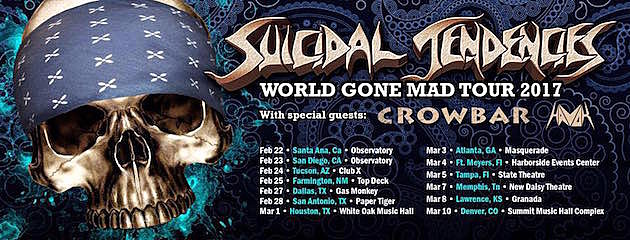 Suicidal Tendencies World Gone Mad Tour