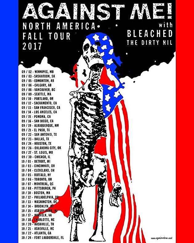 Against Me 2017 Tour