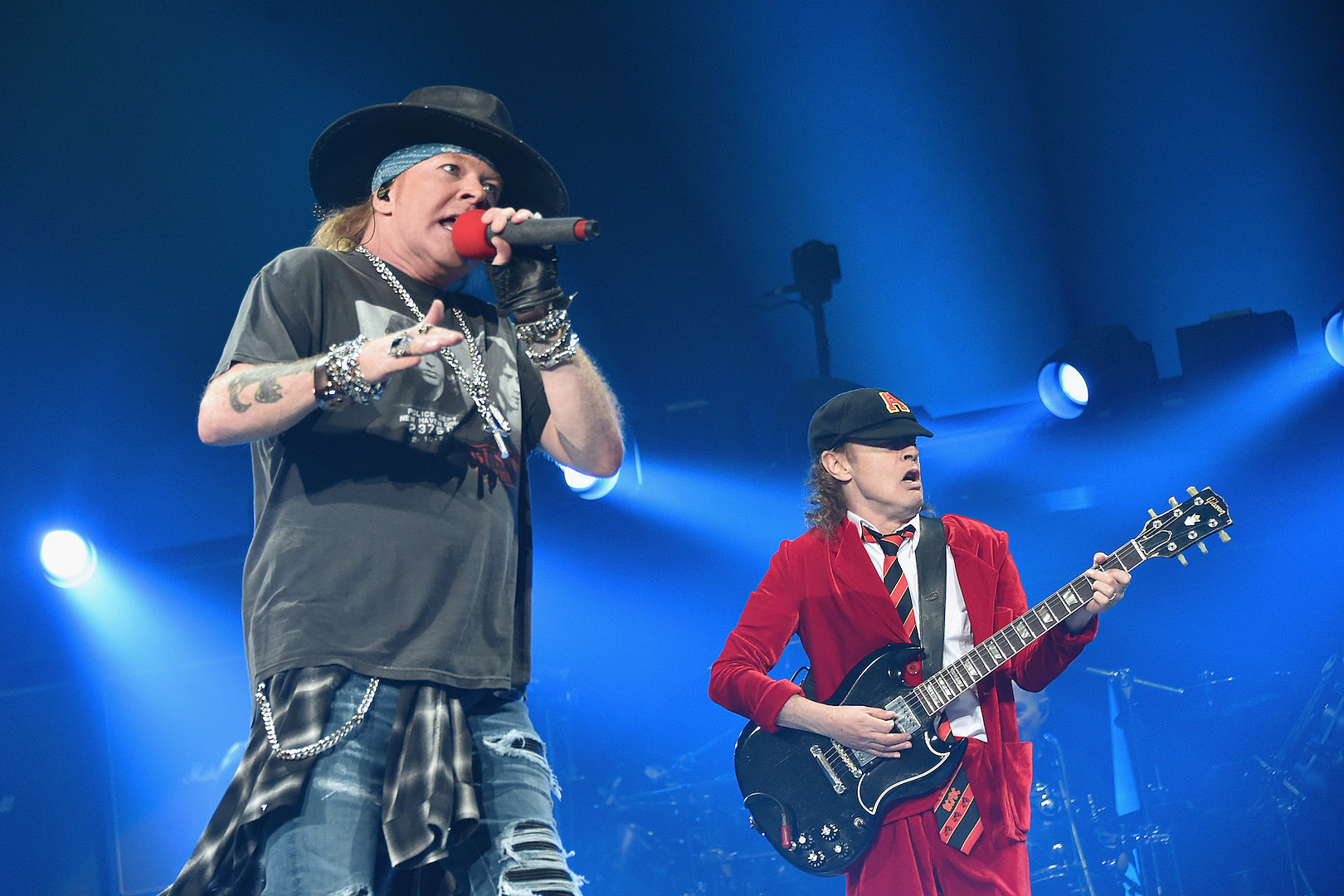 Guns N' Roses Battle Concert Delays + Joined by Angus Young for AC/DC Cover in Germany