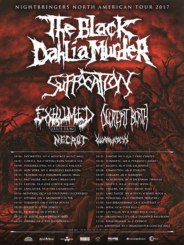 The Black Dahlia Murder Announce Fall 2017 North American Tour