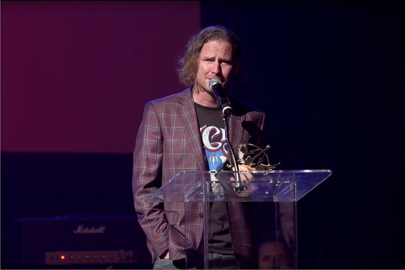 Watch Corey Taylor Give Emotional Rock to Recovery Acceptance Speech