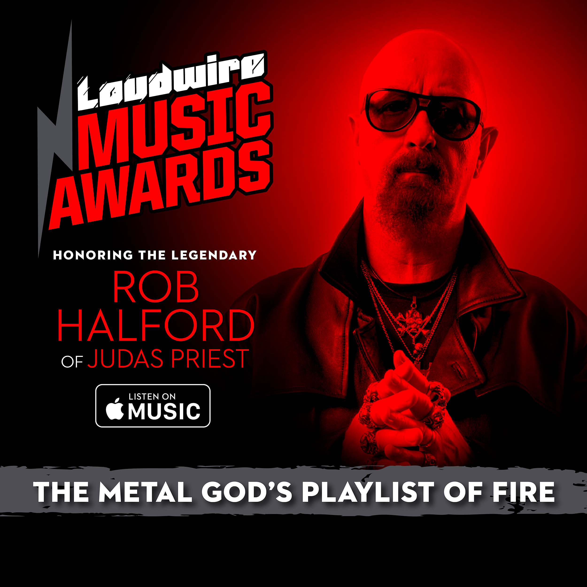 Listen to Rob Halford's Playlist of Fire