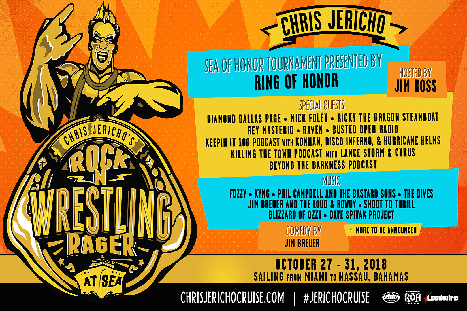 Chris Jericho's Rock 'N' Wrestling Rager At Sea ...