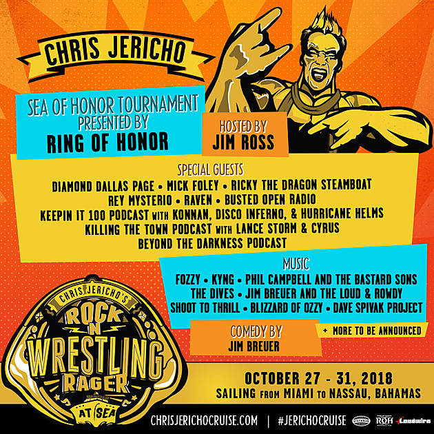 Chris Jericho's Rock 'n' Wrestling Rager At Sea Cruise To ...