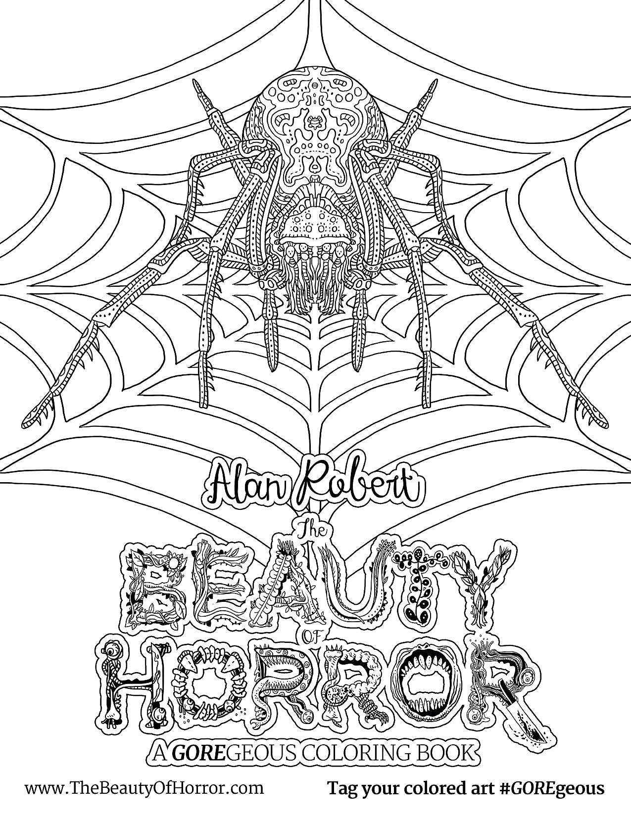 Alan Robert & 'The Beauty of Horror II' Coloring Book ...