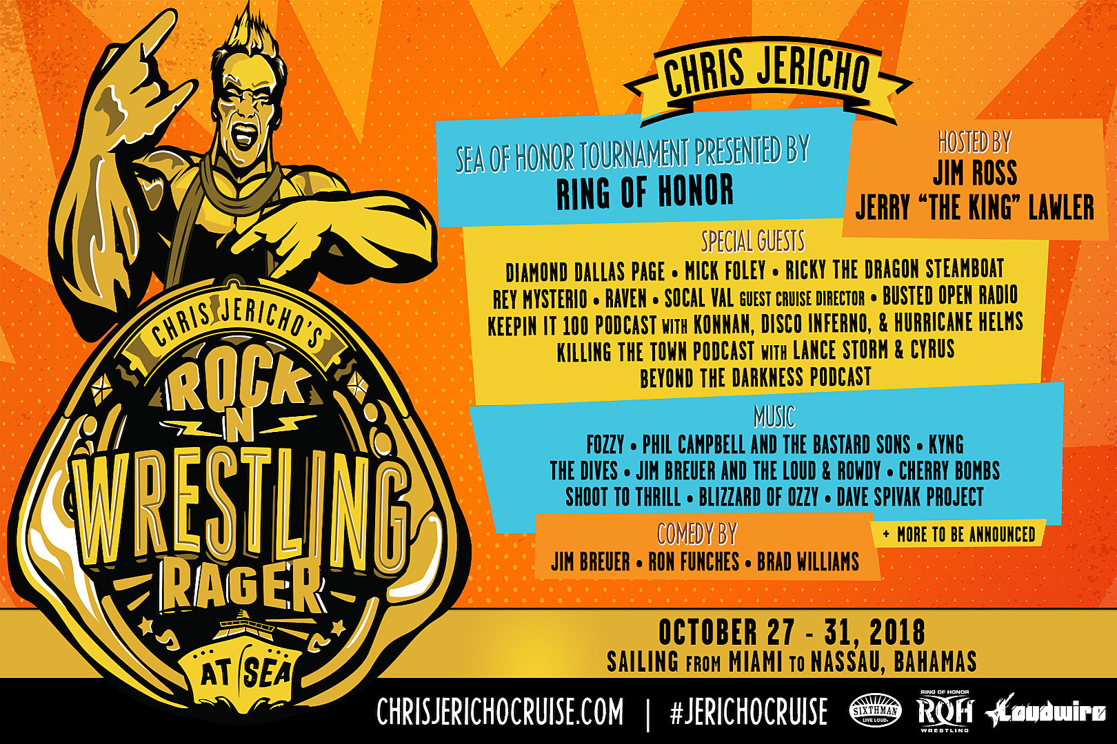 Set Sail to Paradise With Y2J on Chris Jericho's Rock N' Wrestling Rager at Sea