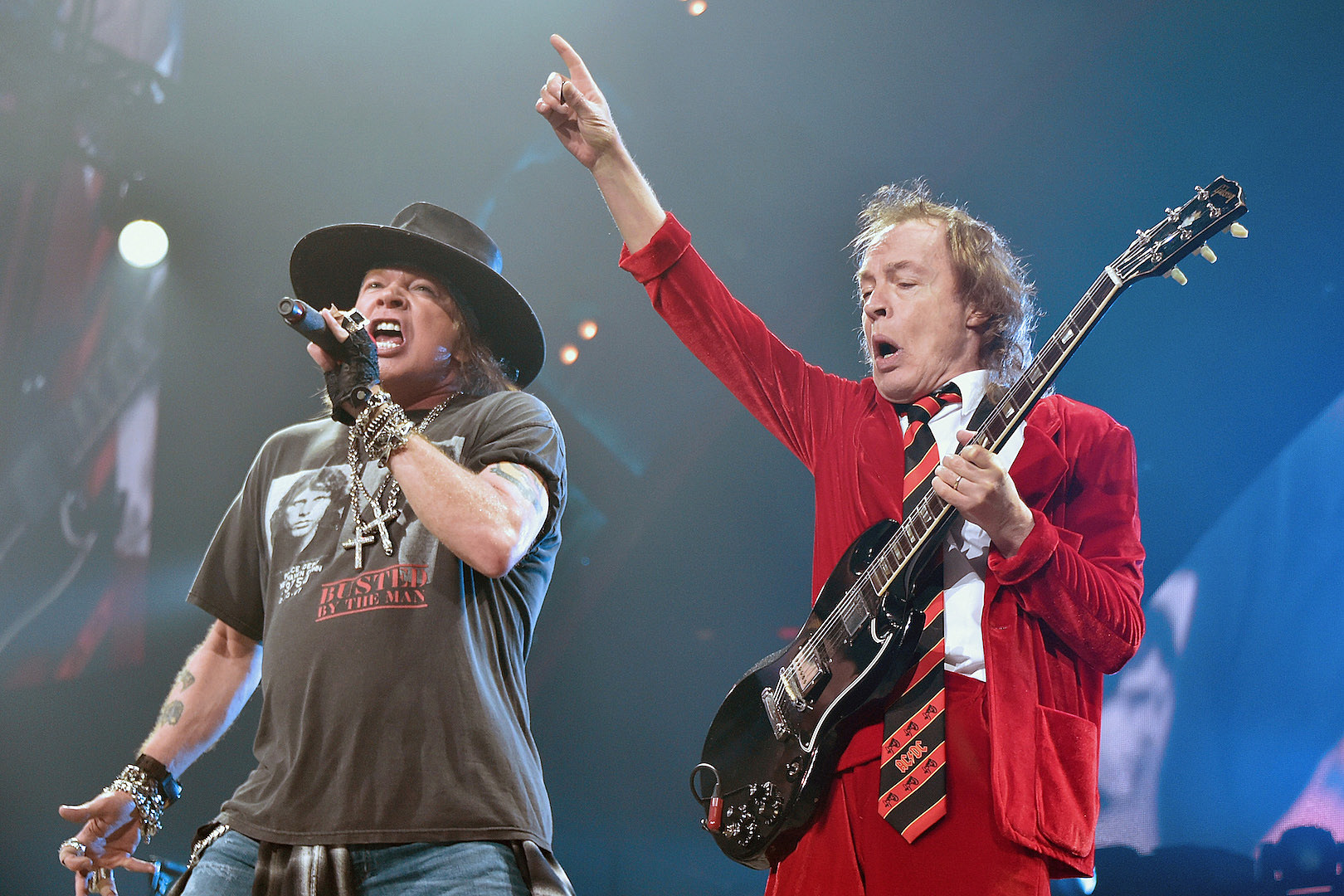 Angus Young Writing New AC/DC Album With Axl Rose Says Rose Tattoo Frontman