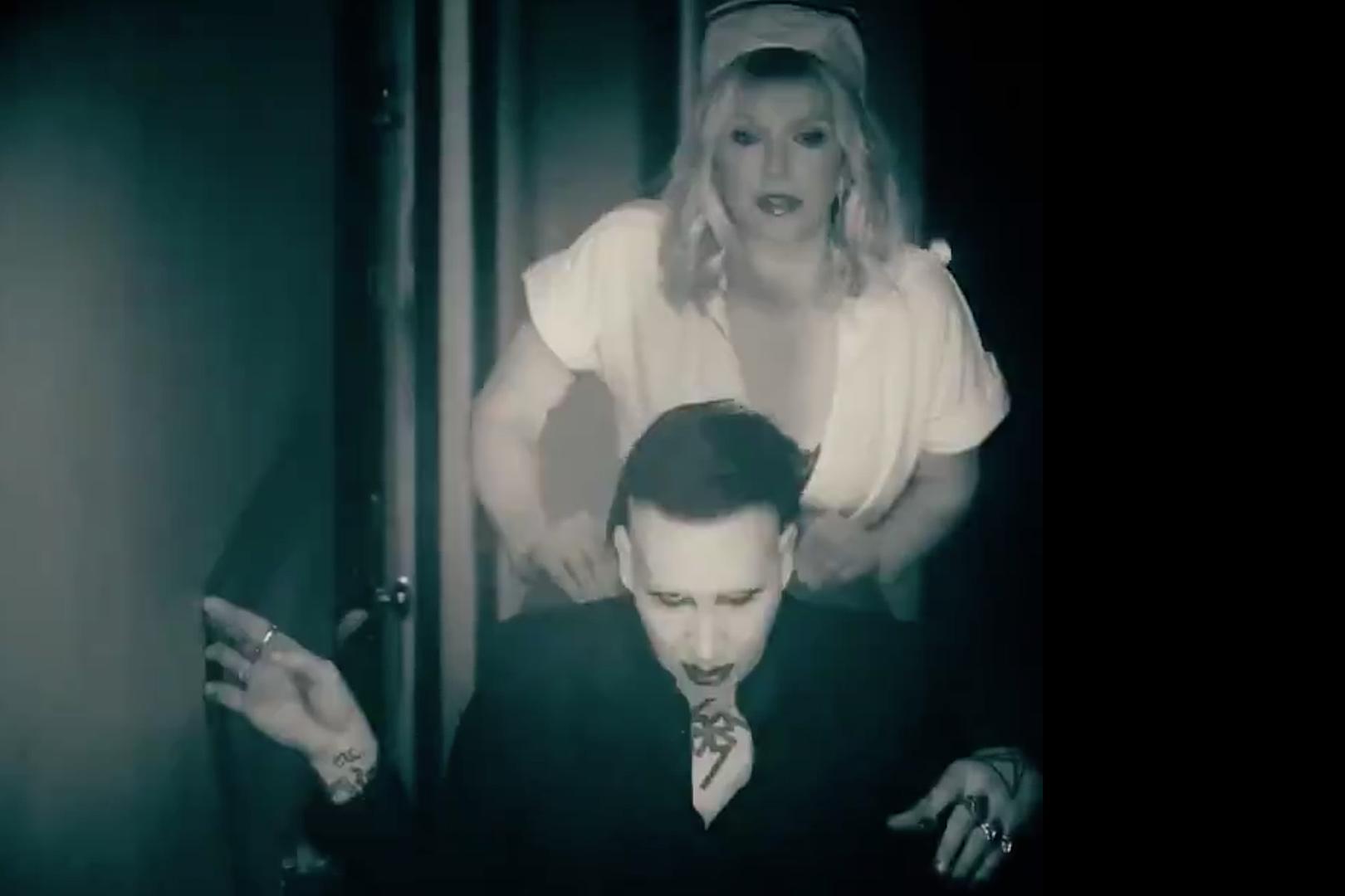 Marilyn Manson Casts Courtney Love as Nurse For 'Tattooed in Reverse' Video