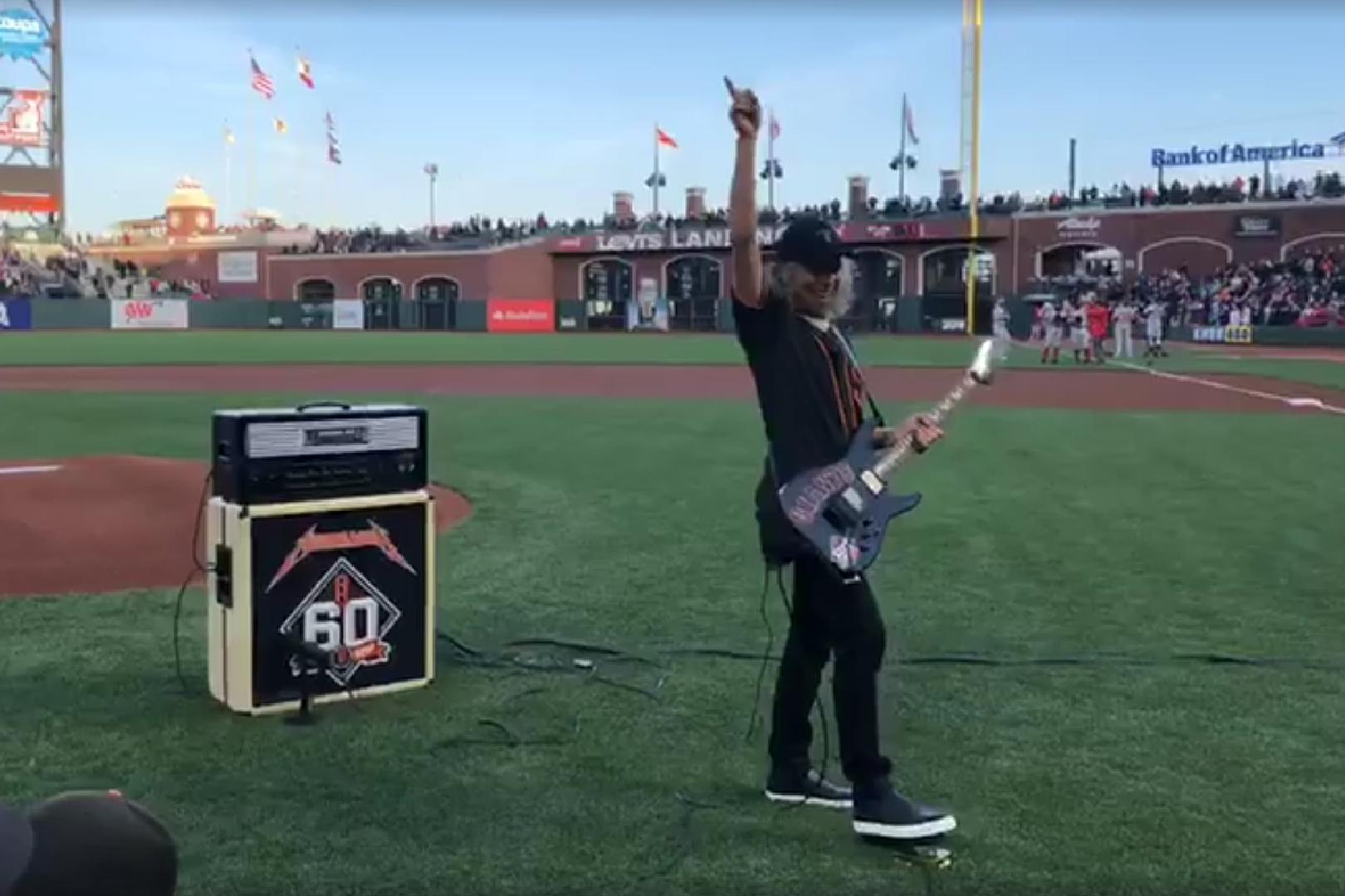 Watch Kirk Hammett Perform National Anthem at S.F. Giants 'Metallica Night'