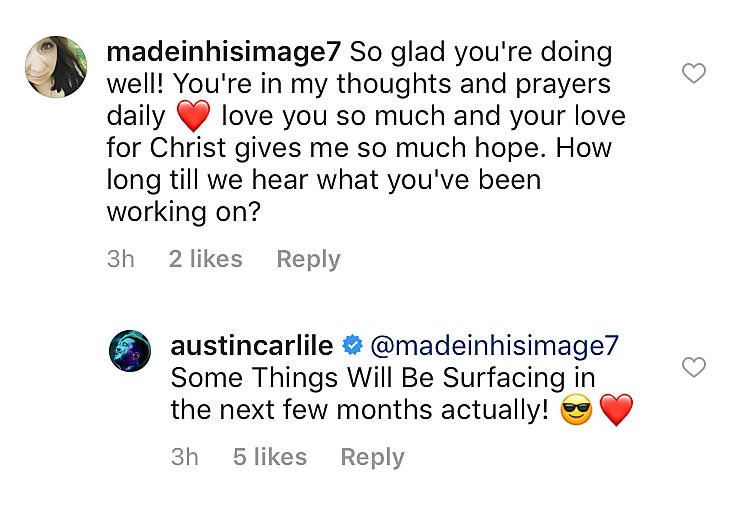 Ex Of Mice Men Vocalist Austin Carlile Confirms Return To Music