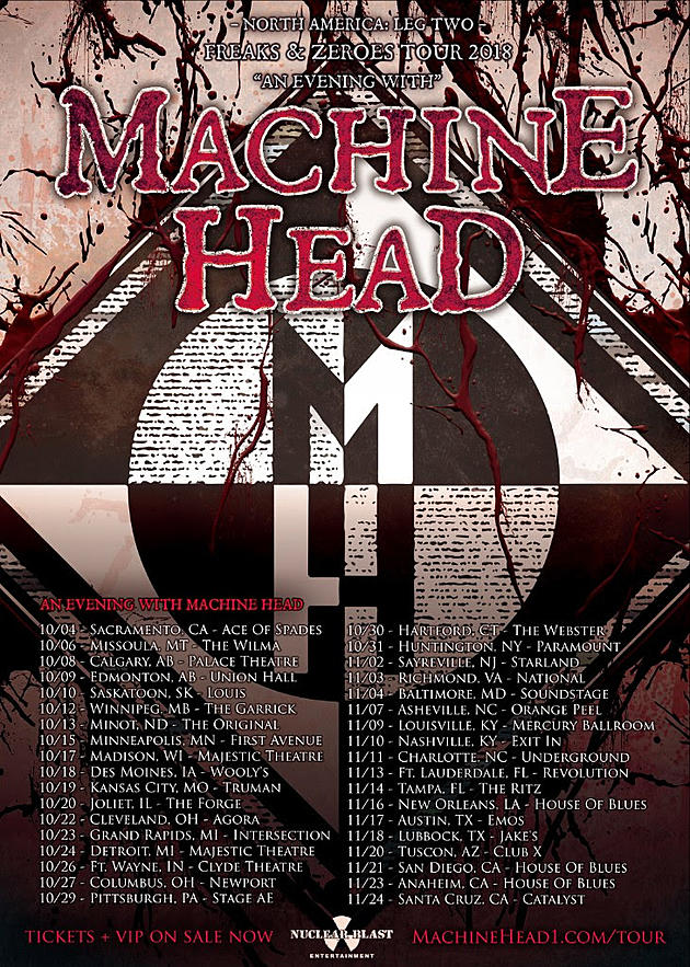 Machine head announce second leg of 2018 north american tour top 100 hard rock metal albums of the 21st century malvernweather Images