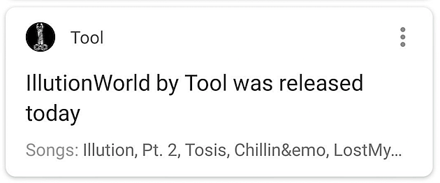 Google Told Everyone Tools New Album Was Out