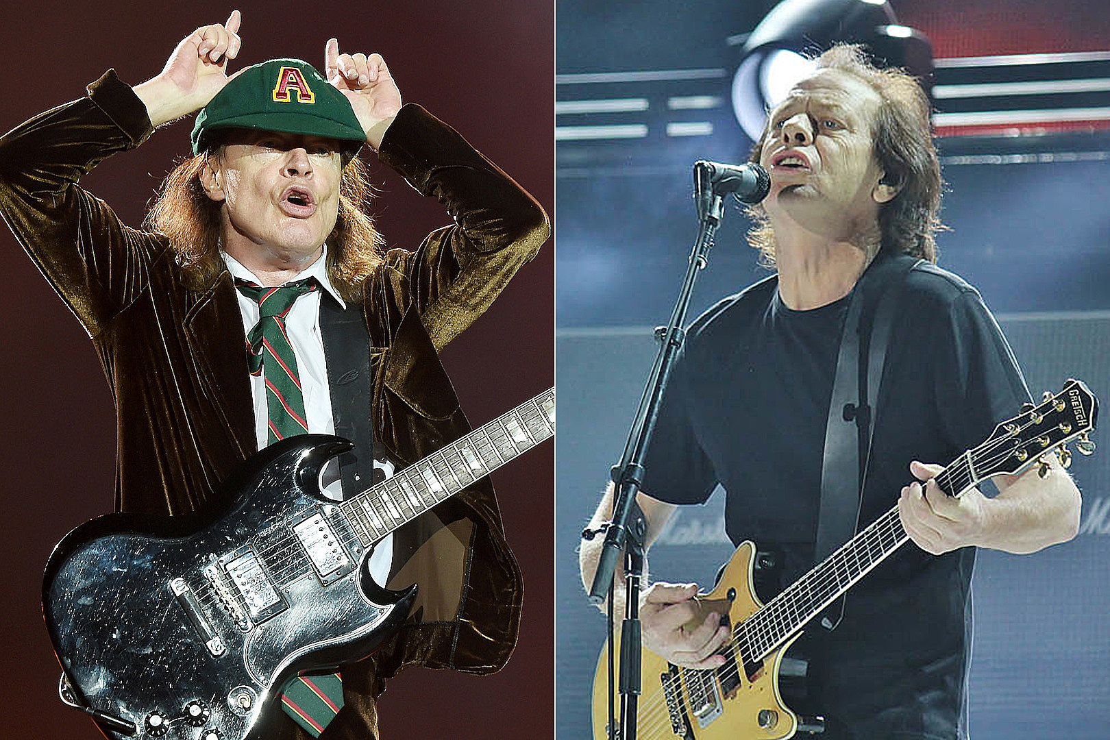 AC/DC\'s Angus + Stevie Young Spotted Outside Vancouver Studio