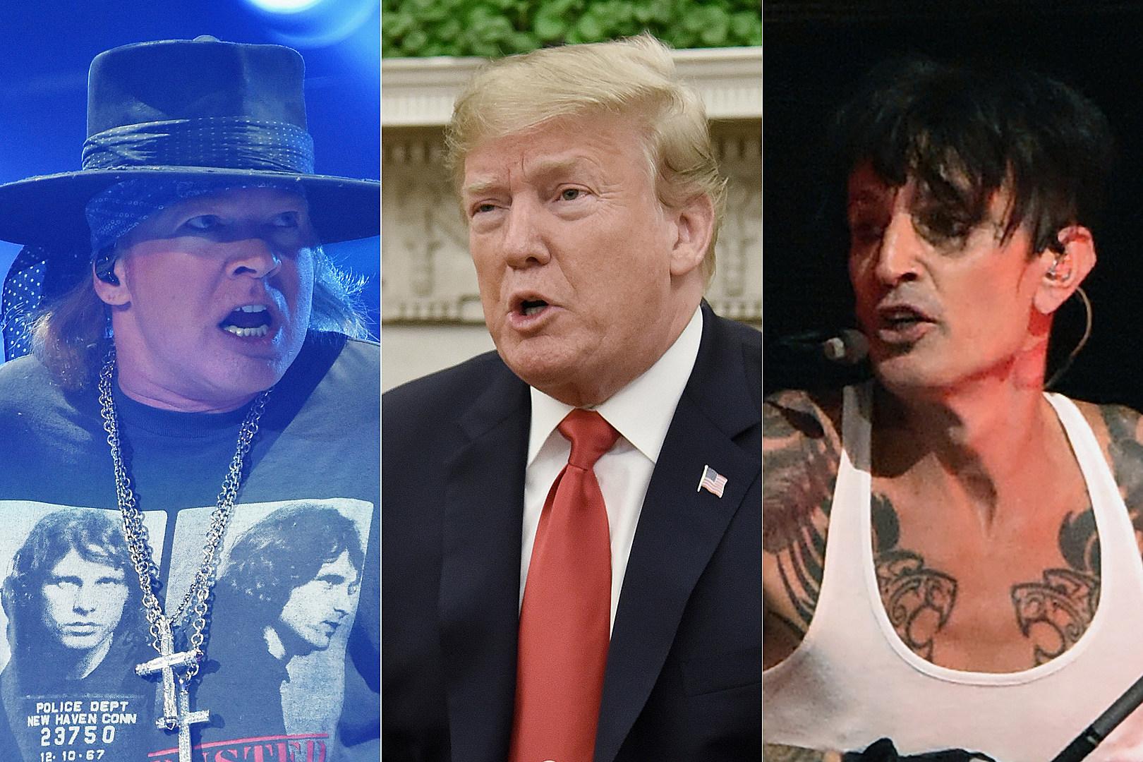 Axl Rose, Tommy Lee, Sebastian Bach Critical of Donald Trump's California Fire Response