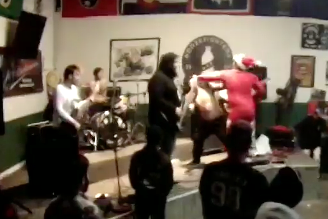 Watch: Santa Claus Beats Up Deathcore Vocalist Onstage