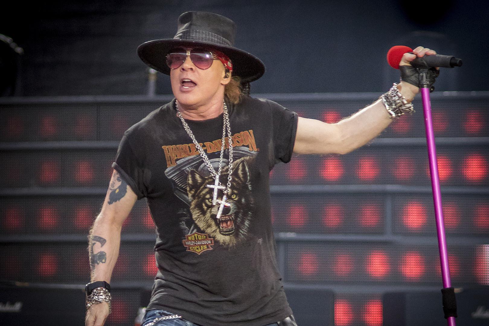 Axl Rose Debuts New Haircut at First 2019 Guns N' Roses Show