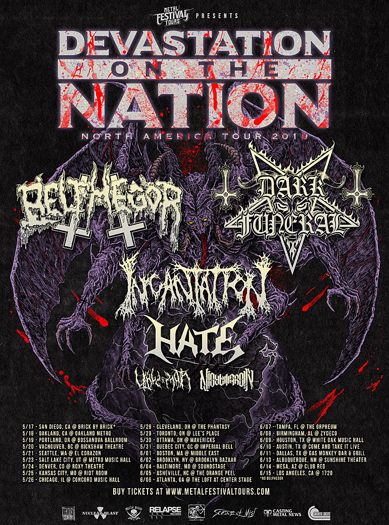 Belphegor Dark Funeral Announce 2019 North American Tour