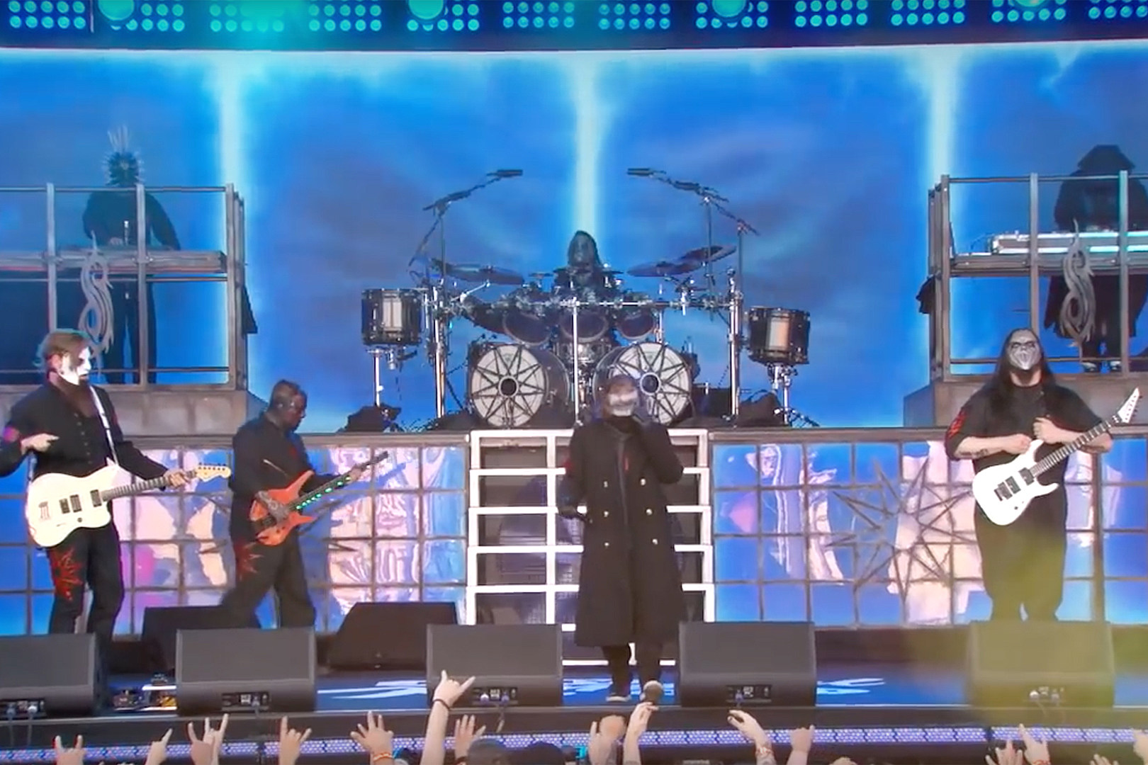 Watch Slipknot Perform 'Unsainted' + 'All Out Life' on 'Jimmy Kimmel Live'