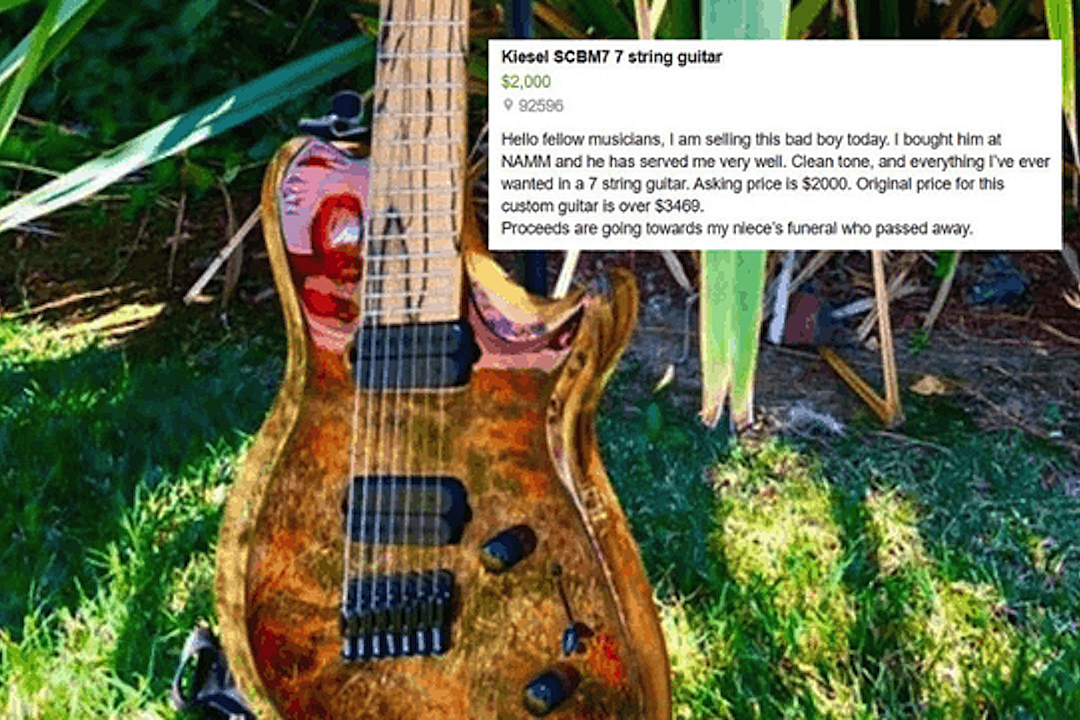 Man Sells Guitar to Pay for Niece's Funeral, Musicians Step in to Help