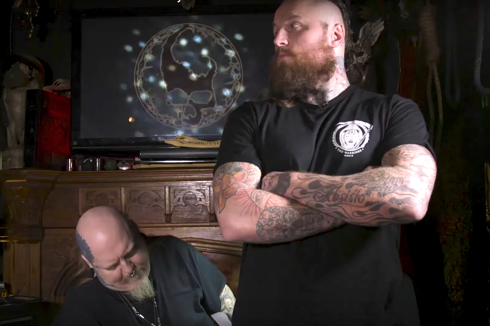 WWE's Aleister Black Talks Black Metal While Getting Tattooed by Paul Booth