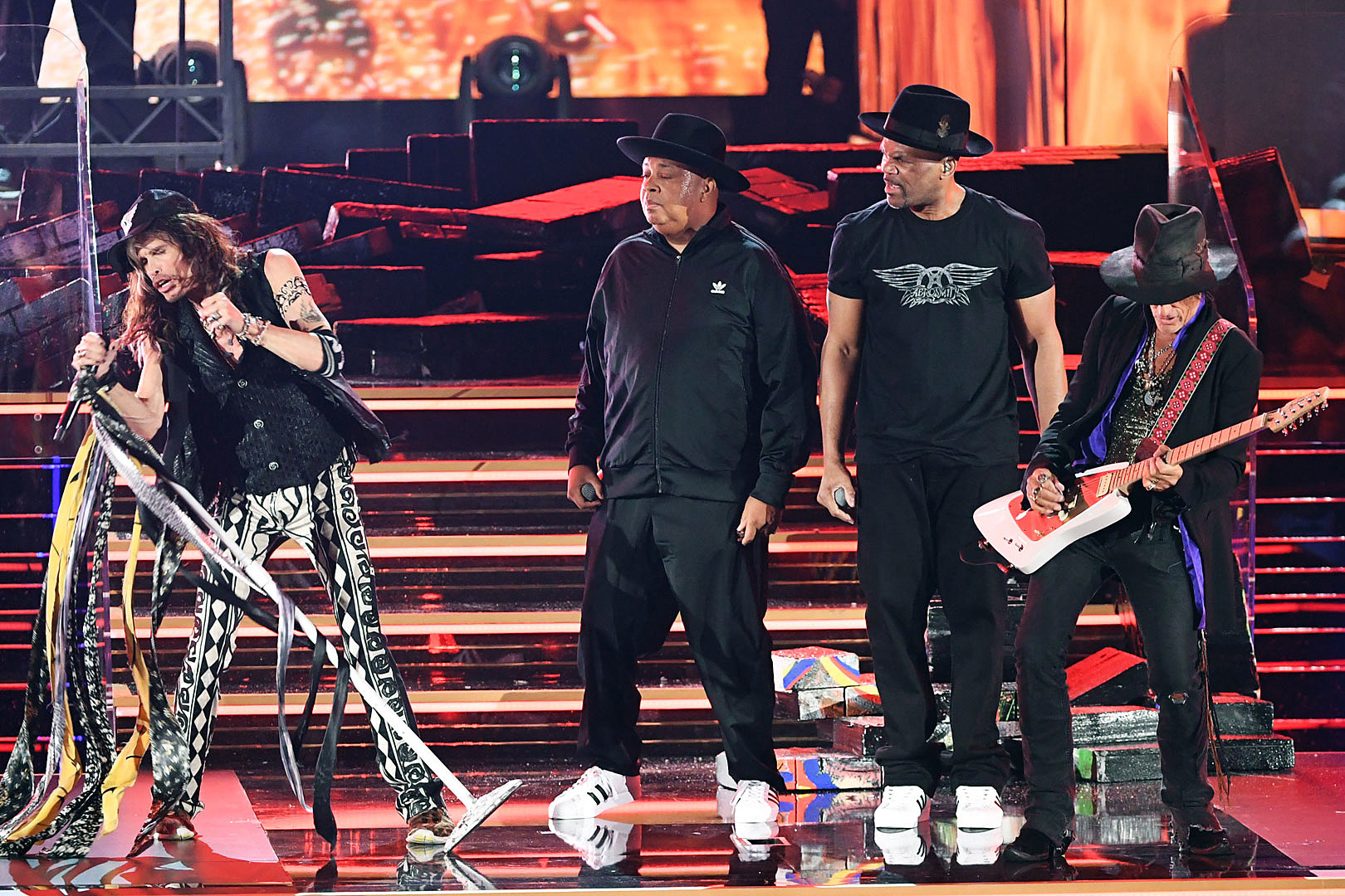 Aerosmith Recreate Run-D.M.C. 'Walk This Way' Collaboration at the 2020 Grammy Awards