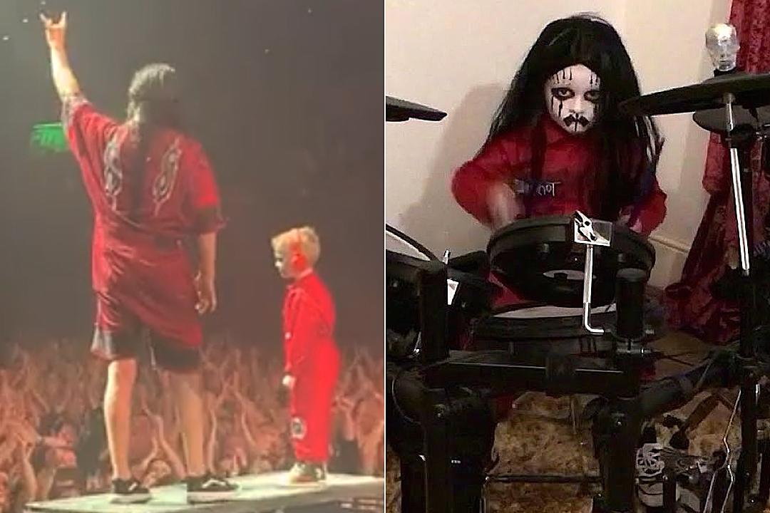 Slipknot Invite Viral Kid Drummer Onstage, Take Photos Backstage